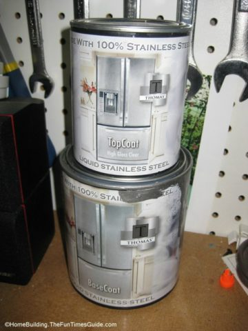thomas liquid stainless steel paint and top coat