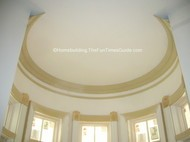 This 3/4 radius crown molding is spot on in this victorian style house.