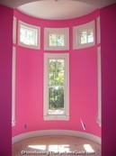 here's a picture of turret tower in the little girl's room of this victorian style house