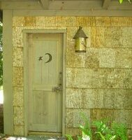 Rustic Tulip Poplar Bark Siding Outhouse