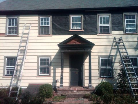 After improving the exterior of this house by replacing the siding.
