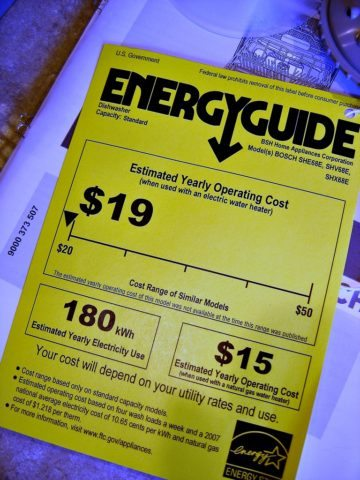 appliance energy guide - estimated yearly operating cost