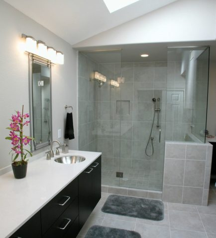 Another example of a shower-only bathroom.