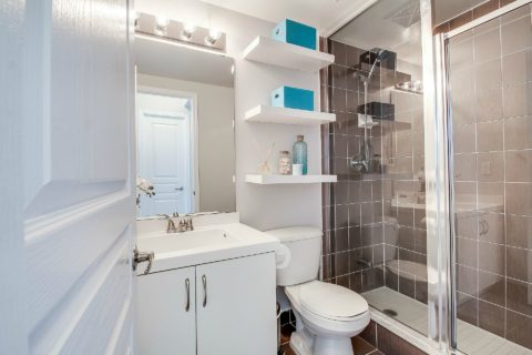 This is a good example of a shower-only bathroom.