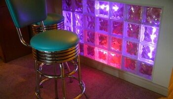 Neon-Lit Glass Block Sets The Mood