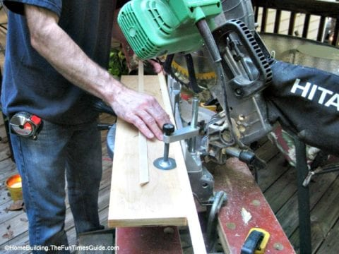Using a compound miter saw for DIY picture frame moulding project