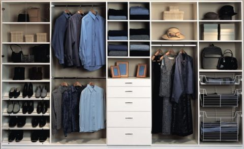 Well organized clothes and personal items are at your fingertips in custom closets.