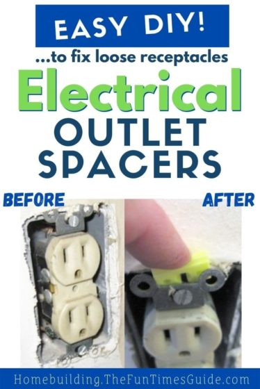 Here's an easy fix for loose outlets... DIY electrical outlet spacers!