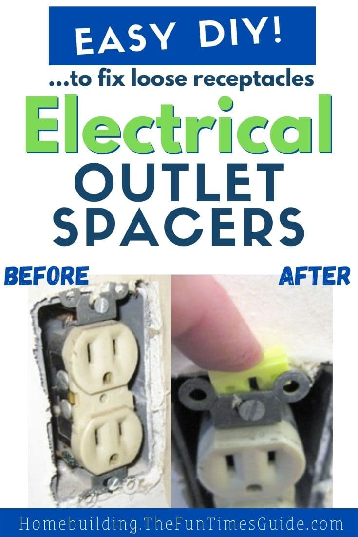 Fix Loose Wall Receptacles By Using Electrical Outlet Spacers