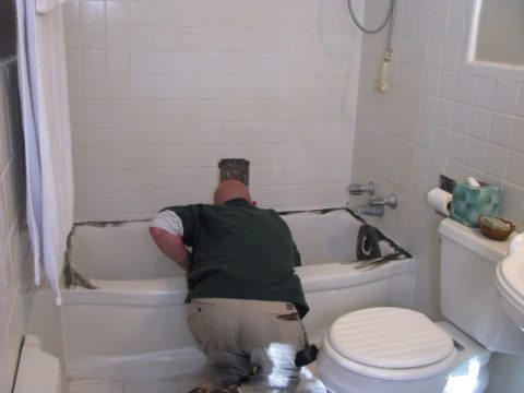 Fiberglass tub repair can be done on your own by following these steps