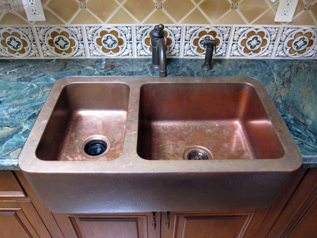 Composite granite sinks pros cons - Double Basin Copper Farmhouse Sink