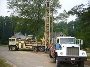 water well drilling is possible with a large, mobile well drilling rig