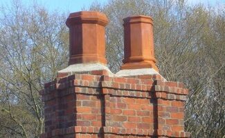 Victorian Style Chimney and Chimney Pots