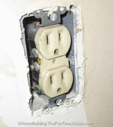 here is some electrical wiring in need of outlet spacers