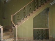 here's a view of the front staircase in open staircase designs