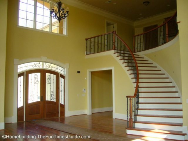 Classic and creative open staircase designs fun times for Grand staircase floor plans