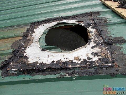 hole-in-roof-from-damaged-metalbestos-chimney