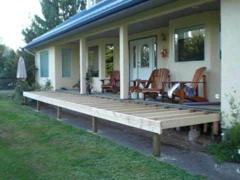 home remodeling deck extension