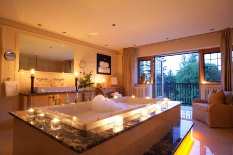 luxury indoor hot tub spa