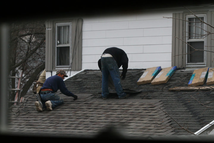 Adding Another Layer Of Asphalt Shingles Over Existing Roof Shingles. Photo  By Waitscm On Flickr