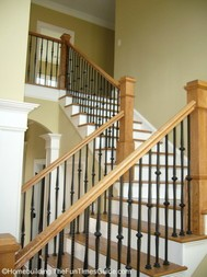 here's another view of the open baluster as part of the open staircase designs builders can choose from