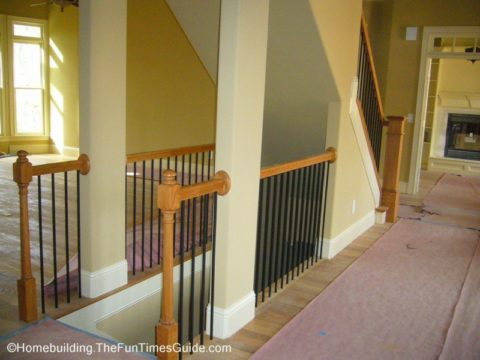 Open staircase designs give the builder the opportunity to showcase a true open floor plan