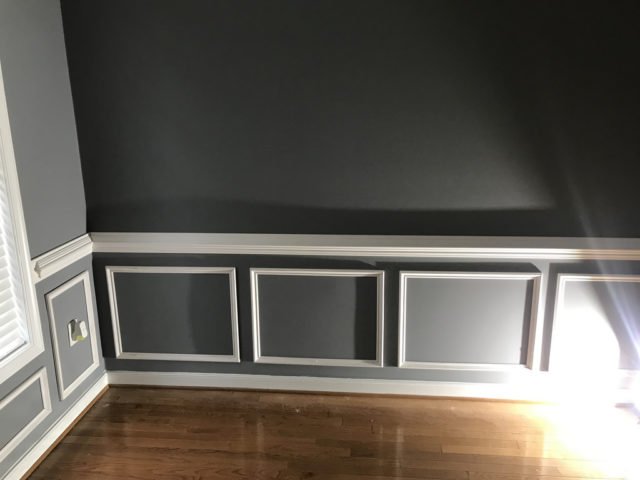 We Chose A Raised Wainscoting Style For Our Dining Room
