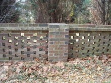 do you like the look of this brick fence?