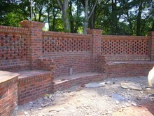 i love the look and design of this brick fence