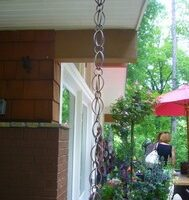 A Rain Chain Downspout Invokes Inspiration… Here's How To Make Rain Chains Yourself