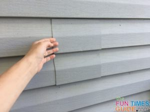 Thanks to a matching piece of house siding, you can't even tell where the old dryer vent used to be!