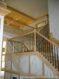 Here's a right angle staircase that was in the builders open staircase designs