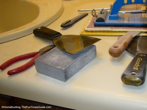 a sanding sponge or sandpaper sponge is good to have on hand for your home DIY projects