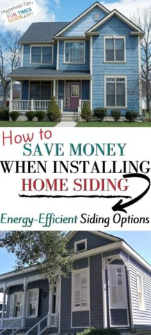 How to save money when installing home siding!