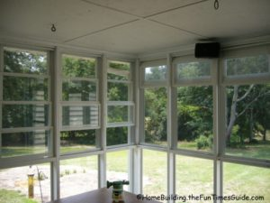 four track windows - screened in porch windows