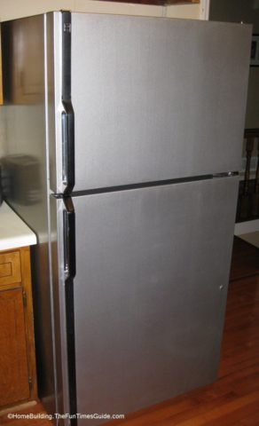 Refrigerator After The Application Of Stainless Steel Paint