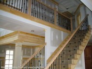 open staircase designs with a catwalk