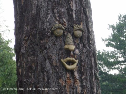 Tree faces add a lot of character to the landscape in your yard