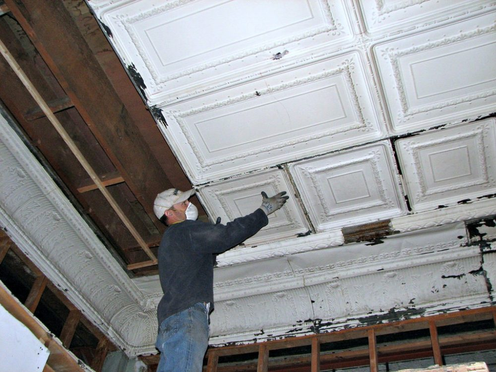 Restoring Tin Ceiling Tiles In Historic Home