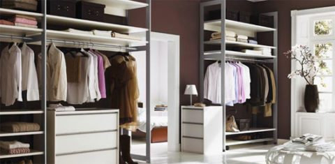Check out this closet inside a walk in closet.