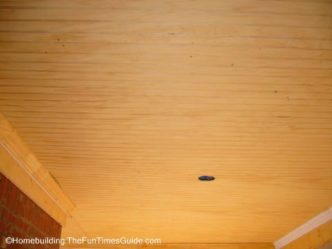 wood ceiling panels aren't as difficult to install as you might think