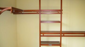 Spruce Up Your Walk-In Closet With A Wood Closet Organizer Instead Of Wire Shelving