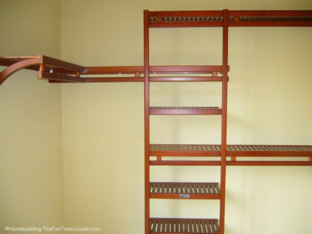 Beau A Solid Wood Closet Organizer With A Red Mahogany Stain.  Wood_closet_organizer