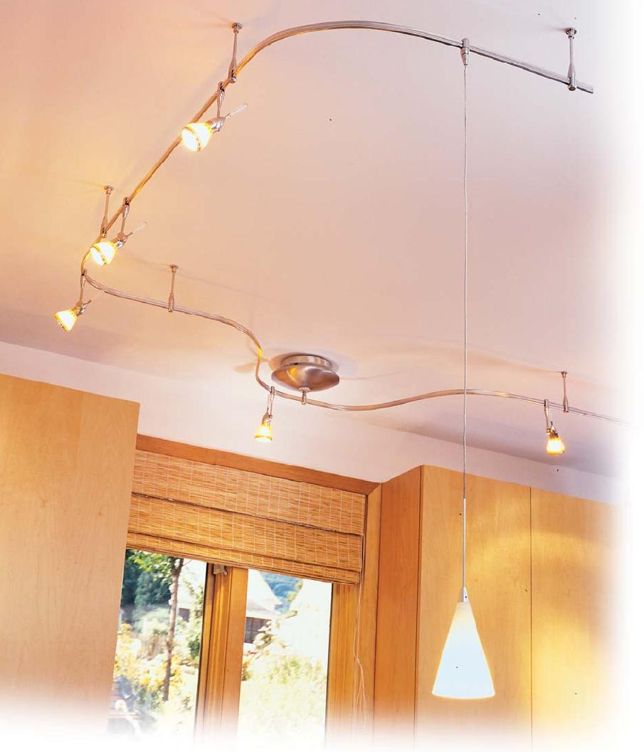 Use flexible track lighting when versatility is needed for Kitchen upgrades