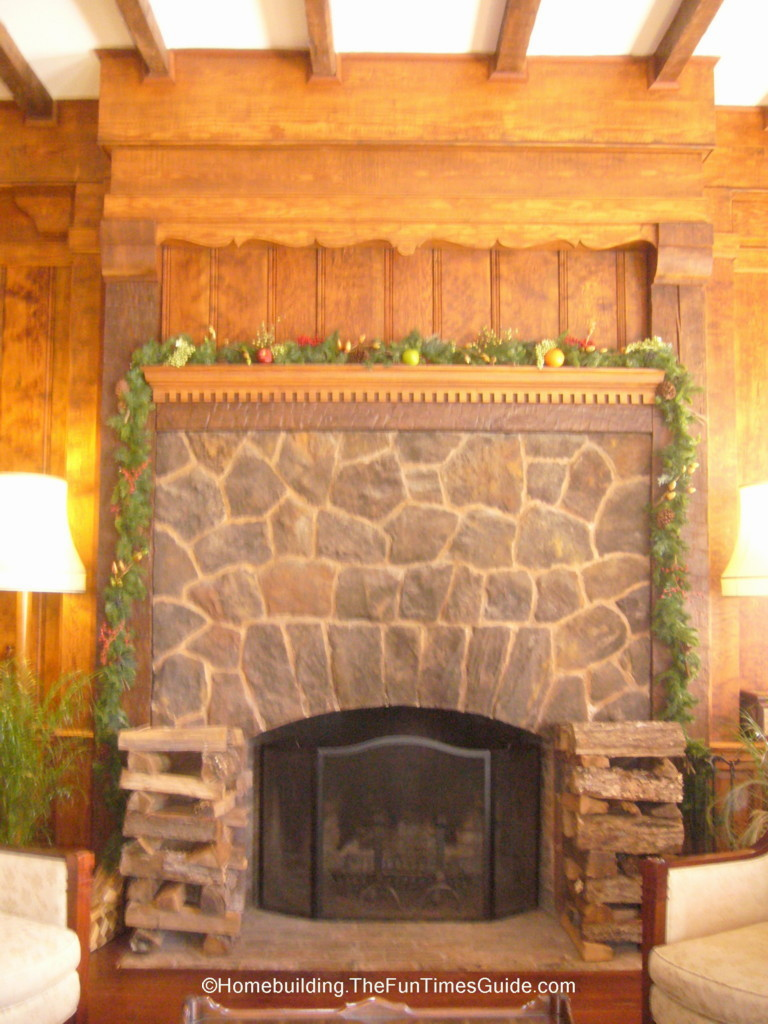 The lobby of the willcox sets the mood the homebuilding for Fieldstone fireplace