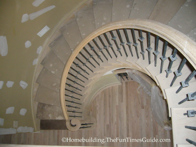 A Curved Staircase Showcased In The Park At Anderson Farm