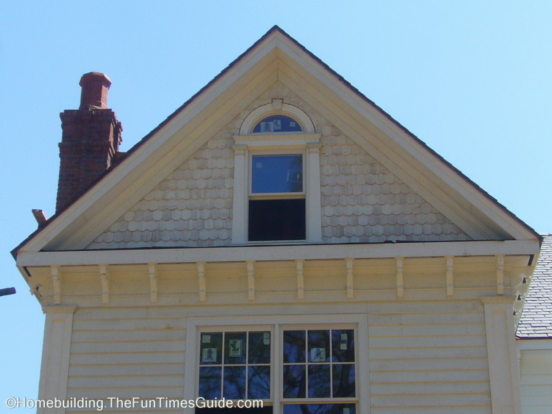Fish Scale Shingle Siding Holds True To Victorian