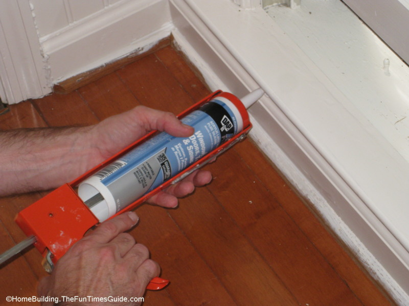 dap acrylic latex caulk with silicone is great for using just about