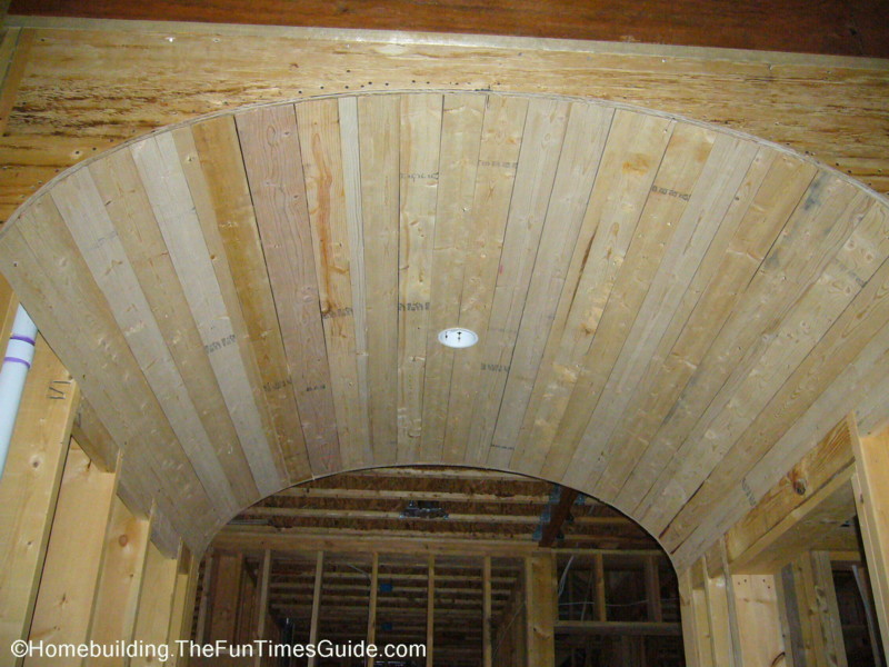 Two distinctive barrel vaulted ceilings fun times guide for Barrel ceiling ideas