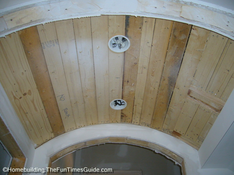 Two distinctive barrel vaulted ceilings the homebuilding for Barrel ceiling ideas